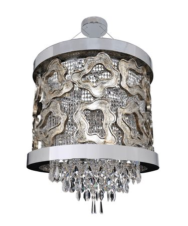 Shown in Chrome with Silver Leaf Accents finish and Firenze Clear crystal