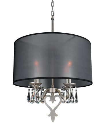 Shown in Aged Silver finish and Firenze Clear crystal