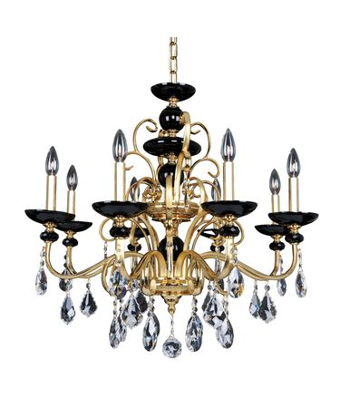 Shown in Two-Tone Gold-24K finish and Firenze Clear crystal