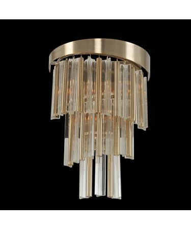 Shown in Brushed Champagne Gold finish and Firenze crystal