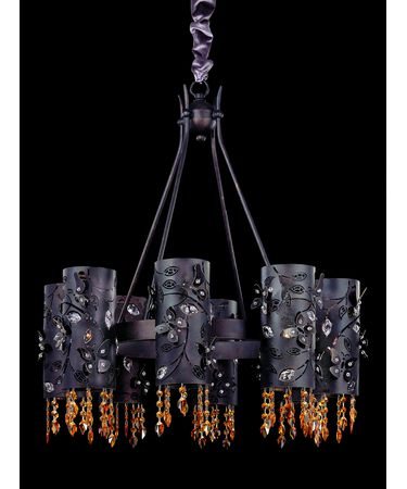 Shown in Sienna Bronze finish and Swarovski Elements Topaz crystal