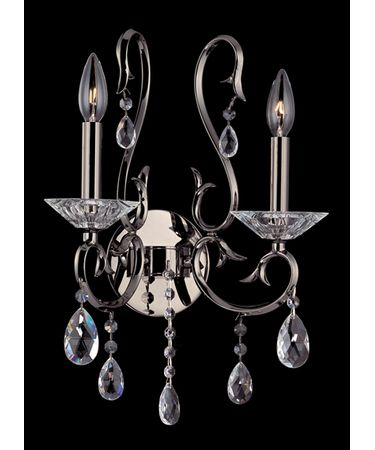 Shown in Black Pearl finish and Firenze Clear crystal