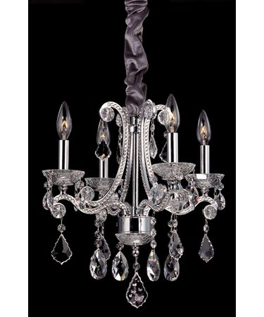 Shown in Polished Chrome finish and Swarovski Elements Clear crystal