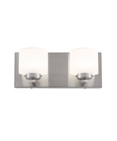 Shown in Satin Nickel finish and Acid Etched Opal Glass glass