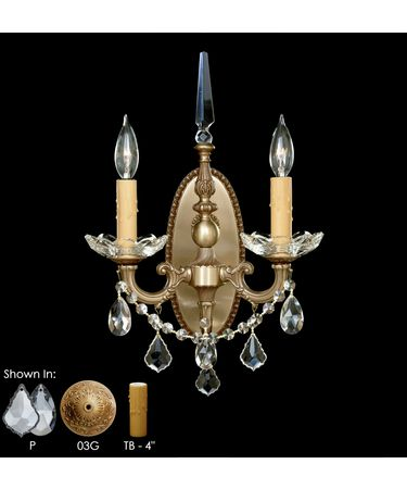 Shown in French Gold Glossy finish with Clear Precision Teardrop crystal