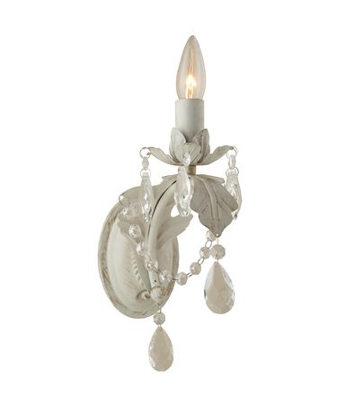 Shown in Antique White finish and Leaded Crystal Jewels crystal