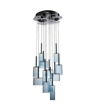 Shown in Silver finish and Blue glass
