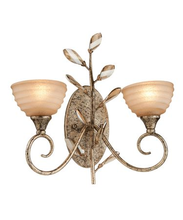 Shown in Bronzed Gold finish and Amber glass