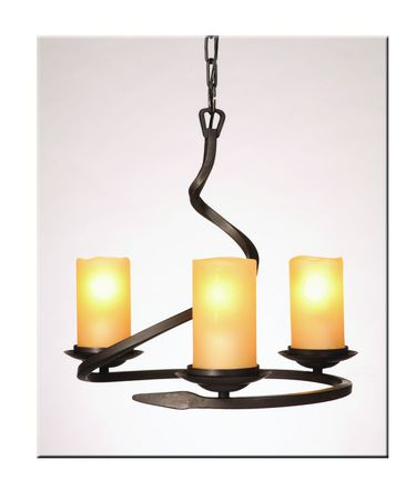 Shown in Bronze finish and Amber glass