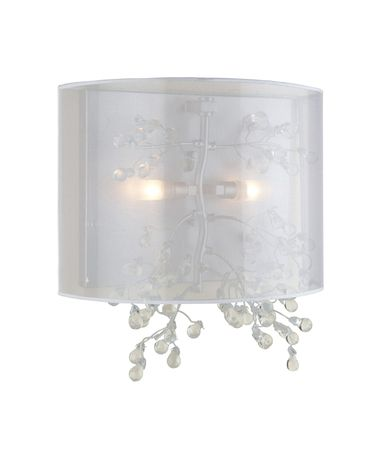 Shown in Chrome finish and White Silk Ribbon shade