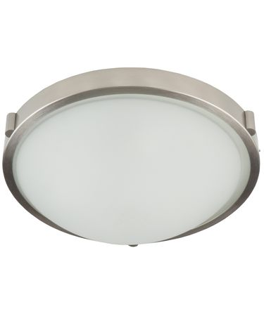 Shown in Brushed Nickel finish and White Frosted glass