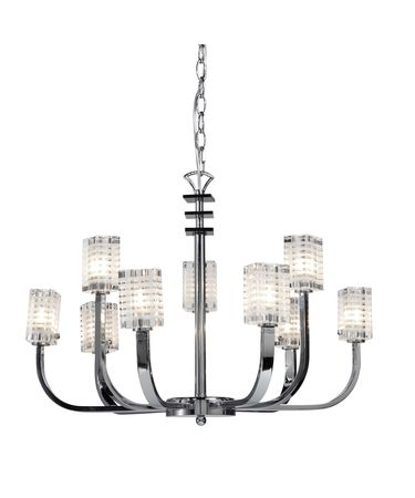 Shown in Chrome finish and Clear and Black crystal