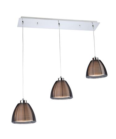 Shown in Black finish and Metal Wire shade