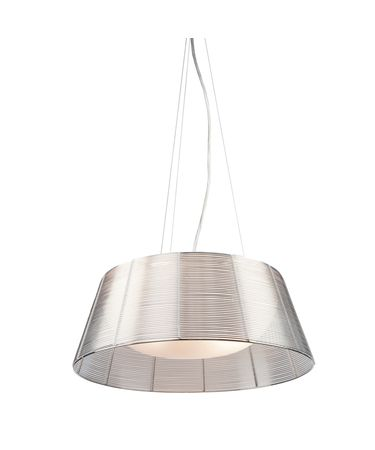 Shown in Slate finish and Metal Wire shade