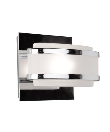 Shown in Chrome finish and Frosted glass
