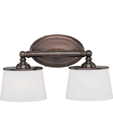 Shown in Burnished Bronze finish and White Oval glass