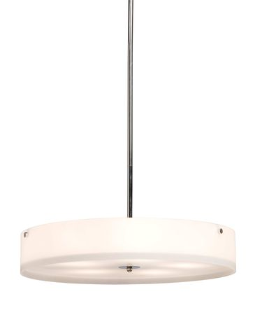 Shown in Chrome finish, Satin Acid glass and Distressed Wood accent
