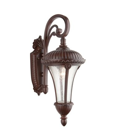Shown in Mahogany finish and Clear Seeded glass
