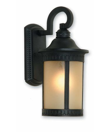 Shown in Black finish and Amber glass