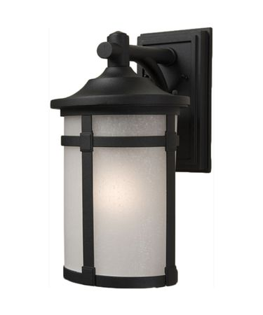 Shown in Black finish, Caramelized Linen glass and Crystal Bobeche accent
