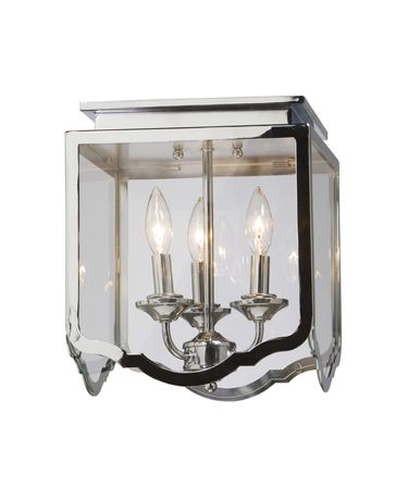 Shown in Chrome finish and Beveled glass