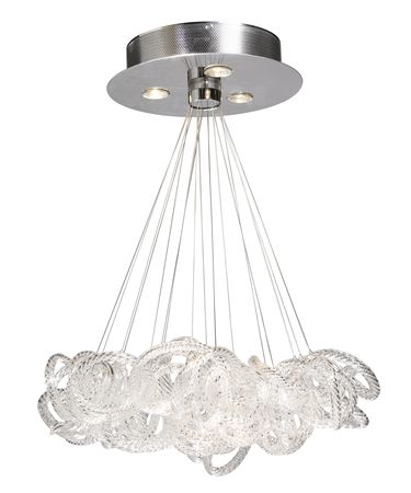 Shown in Polished Brushed Nickel finish and Crystalline Glassware glass