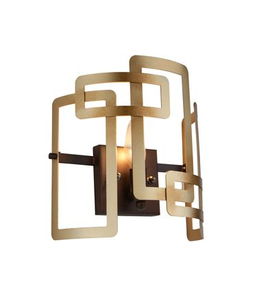 Shown in Bronze finish and Metal Geometric shade