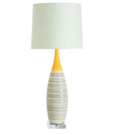 Shown in Yellow-White finish and Ivory shade