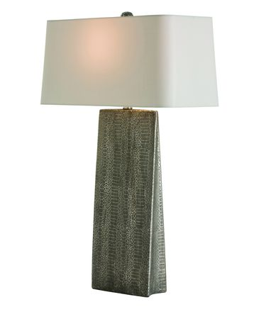 Shown in Metallic Python finish, Gray glass and Silver Metallic shade