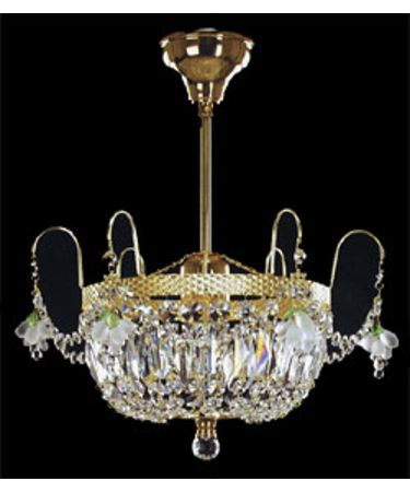 Shown In Polished Brass finish with Swarovski Spectra crystal