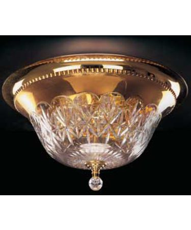 Shown In Polished Brass finish with Blown & Cut Crystal crystal