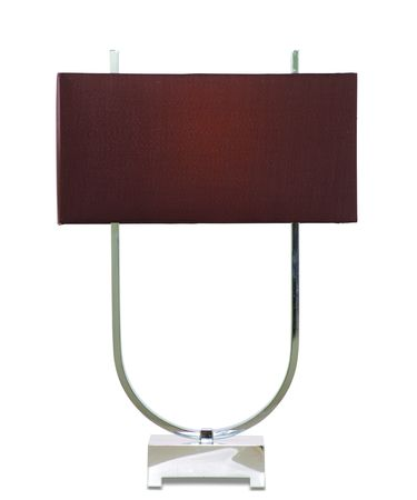 Shown in Chrome Plated finish and Fabric shade