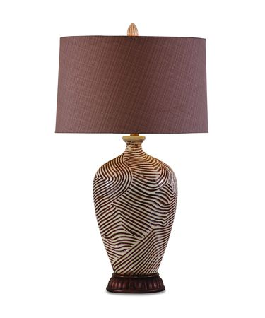 Shown in Beighe Brown Swirl finish and Fabric shade