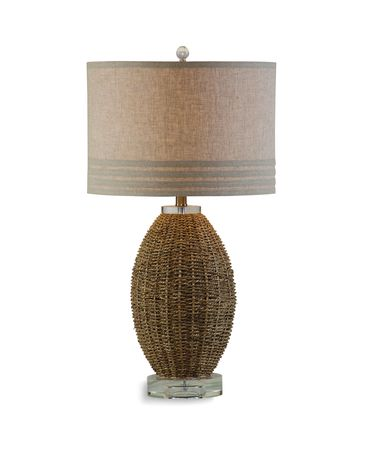 Shown in Woven Seagrass finish and Fabric shade