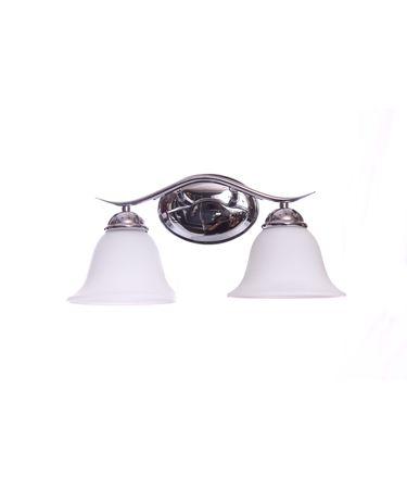 Shown in Polished Chrome finish and White Opal glass