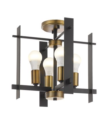 Shown in Oil Rubbed Bronze-Antique Brass finish