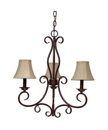 Shown in Mediterranean Bronze finish and Fabric shade