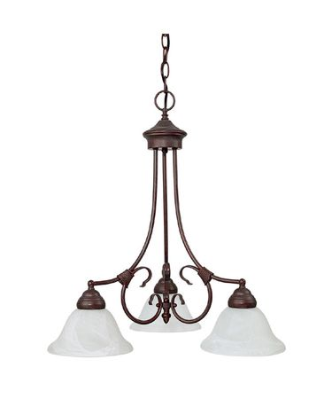 Shown in Vintage Bronze finish and White Faux Alabaster glass