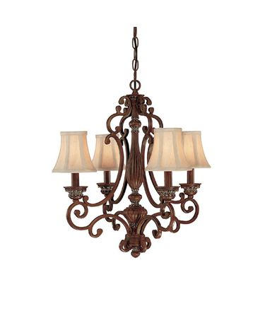 Shown in English Chestnut finish, Crystal Set Sold Separately crystal and Fabric shade