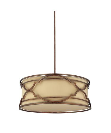Shown in Bronze with Gold Dust finish, Gold Dust crystal and Fabric shade