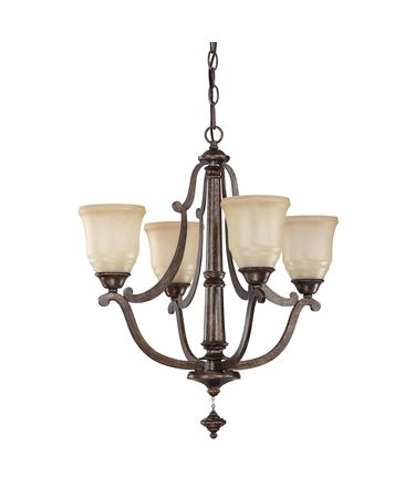 Shown in Rustic finish and Candlelight glass