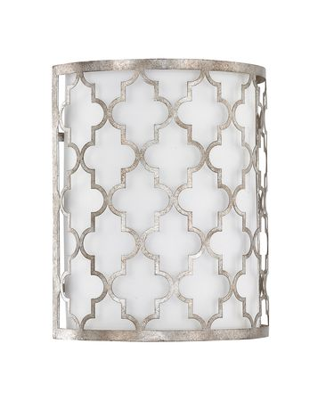 Shown in Antique Silver finish and White Fabric shade