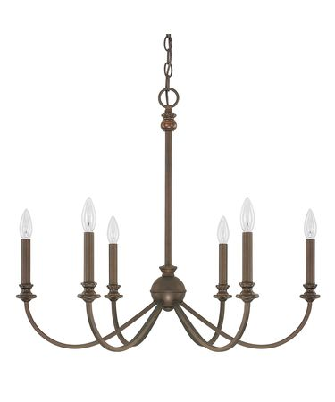 Shown in Burnished Bronze finish and No Shade shade
