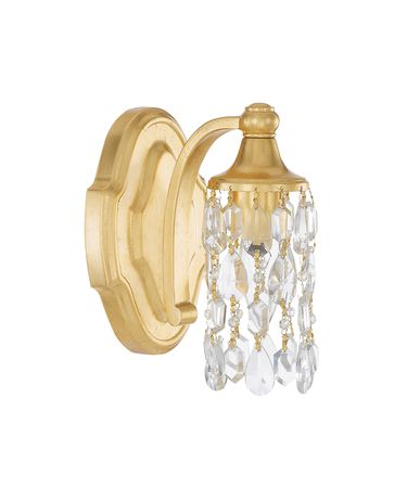 Shown in Capital Gold finish and Soft White  glass
