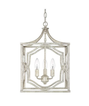 Shown in Antique Silver finish and No Crystal crystal