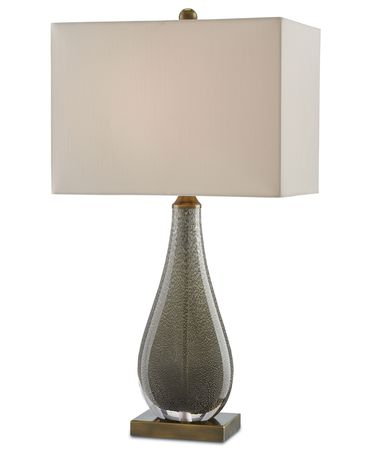 Shown in Charcoal Brown-Antique Brass finish and Honey Beige Shantung shade