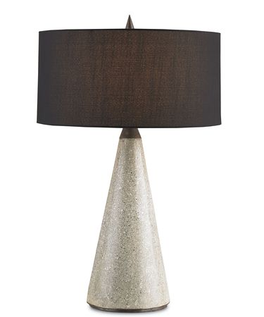 Shown in Polished finish and Black Shantung shade