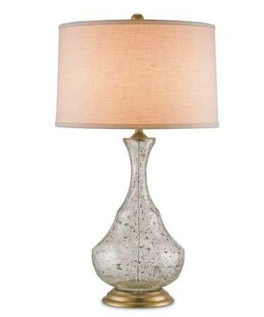 Shown in Clear Speckled Glass-Brass finish