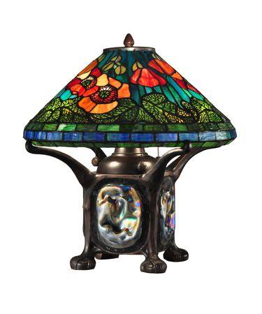 Dale Tiffany TT12329 Poppy 18 Inch High Table Lamp