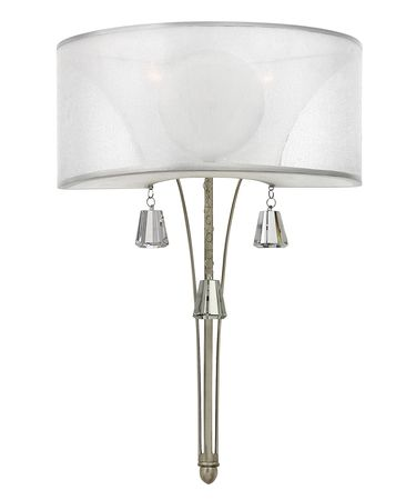 Shown in Brushed Nickel finish, Square Crystal Accents crystal and Translucent White shade